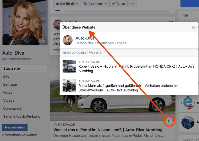 Nach der Facebook Domainbestätigung wird mehr angezeigt