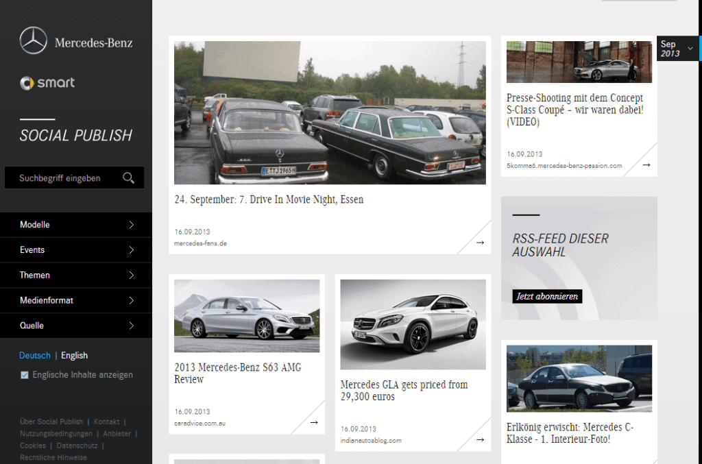 Socialpublish von Mercedes-Benz